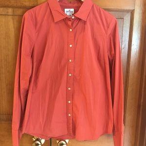 J Crew orange Haberdashery button down shirt